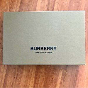 Burberry Box with tissue and ribbon.